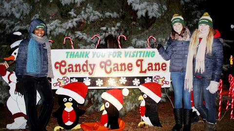 The FOX Sports Wisconsin Girls visited Candy Cane Lane in West Allis, Wis. to lend their support to the MACC Fund.