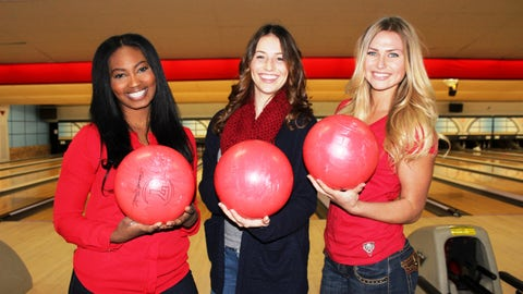 Bowling over breast cancer while wearing red for heart disease awareness. #FOXSportsSupports