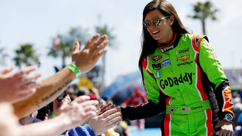 Danica Patrick wins a NASCAR Sprint Cup race