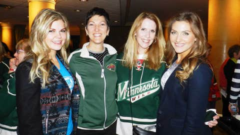 The FOX Sports North Girls talk hockey at the St. Paul Hotel with Wild fans for Ladies Night.