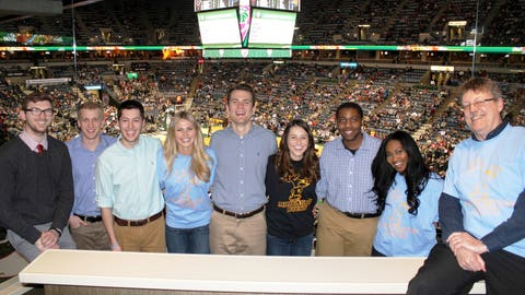 The FOX Sports Wisconsin Girls hosted FOX Sports University participants in the suite at the game. The Marquette students developed a promotional plan for Bucks College Night as part of the FOX Sports University program.