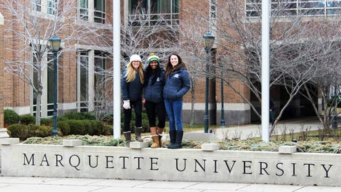 Watch out Marquette – the FOX Sports Wisconsin Girls have officially invaded your campus!
