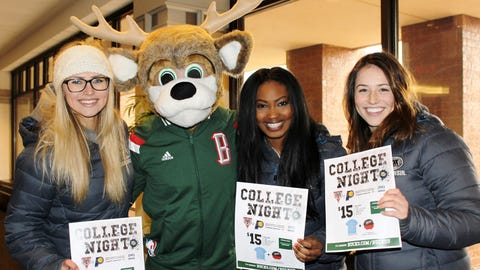 The FOX Sports Wisconsin Girls & Bango teamed up to promote Bucks College Night.