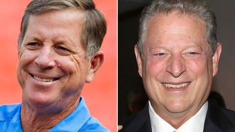 Norv Turner and Al Gore