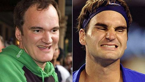 Quentin Tarantino and Roger Federer