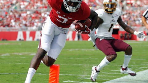 COLLEGE FOOTBALL: Calvin Ridley, Alabama -- age 21