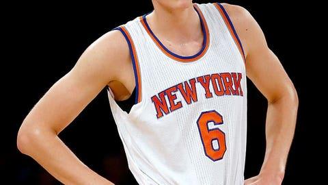NBA: Kristaps Porzingis, New York Knicks -- age 20