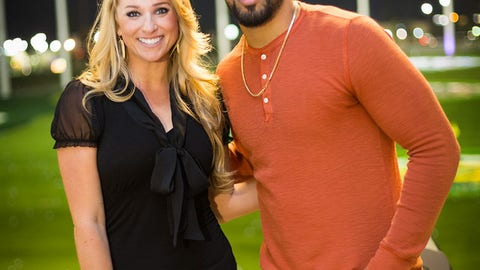 Arian Foster at Topgolf