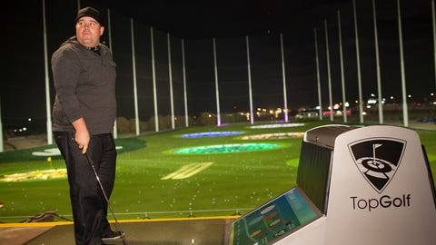 Colt Knost at Topgolf