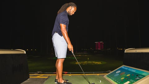 Larry Fitzgerald at Topgolf