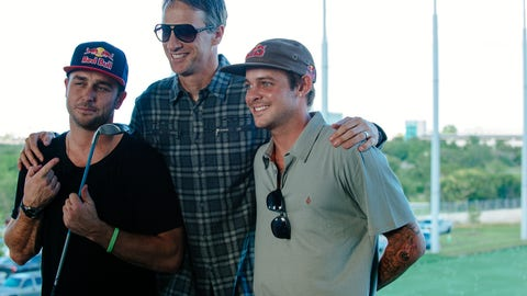 Tony Hawk and Ryan Sheckler at Topgolf