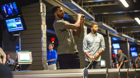 The Morris twins at Topgolf