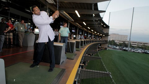 Robert Horry at Topgolf
