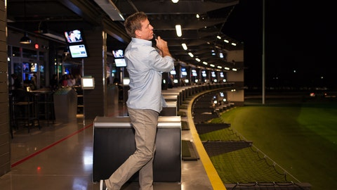 Troy Aikman at Topgolf