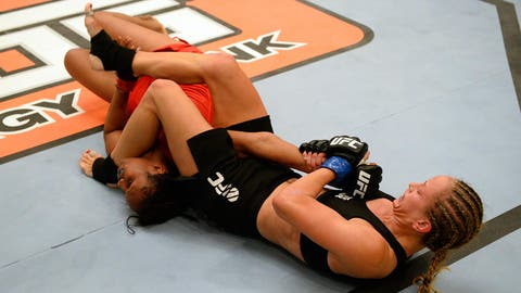The striker with the submission
