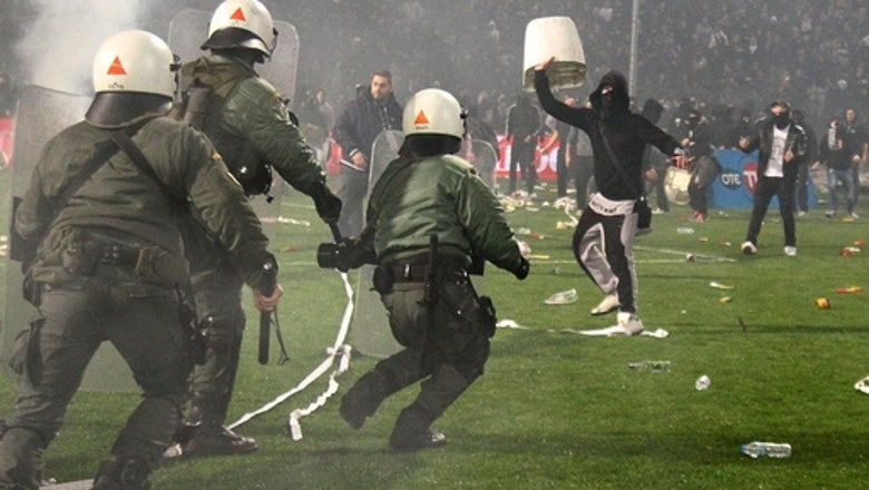 Greek Cup final canceled by government after violence in semifinal