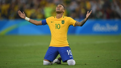 Brazil wins first men's soccer gold