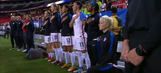 Megan Rapinoe kneels during national anthem while with USWNT again