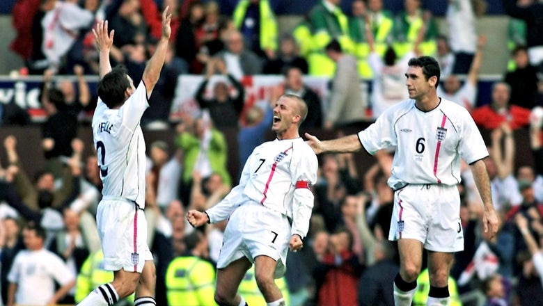 15 years ago David Beckham hit this spectacular free kick to send England to the World Cup