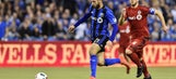 Impact take first leg of East final, but two away goals keep Toronto FC alive