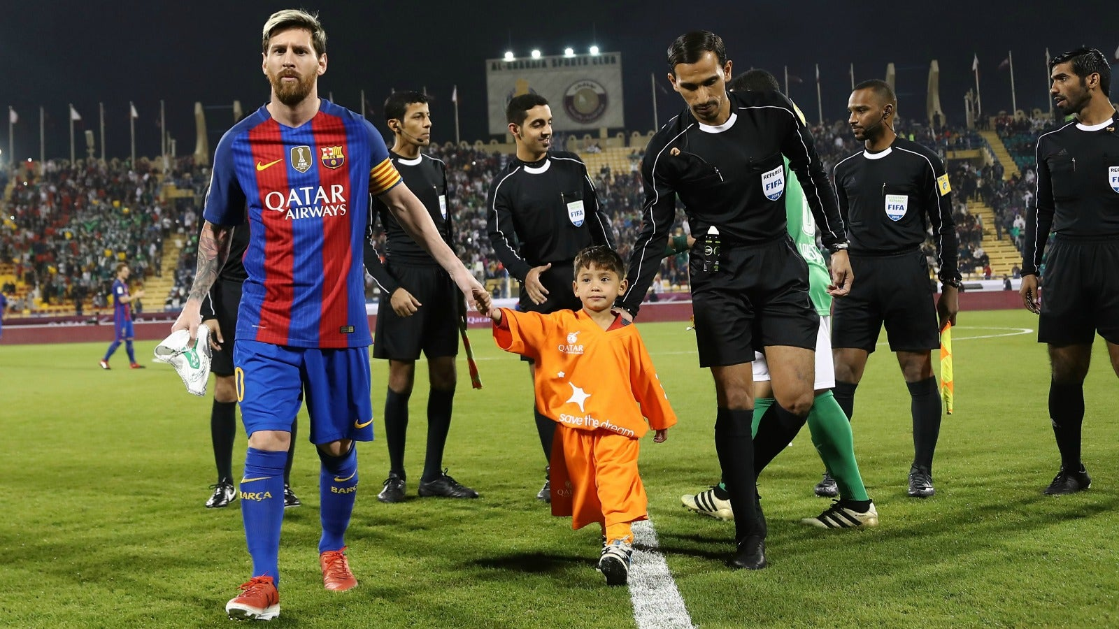 detailed look 6182b d1eb8 Watch Lionel Messi's heartwarming meeting with boy who wore ...
