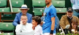 The Latest: Djokovic steadies in 2nd set of French final