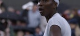 Downpour! Venus Williams forced off court as rain storm hits on match point