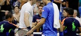 The Latest: Murray loses way after let, beaten by Nishikori