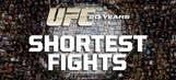 Top 20 shortest UFC fights