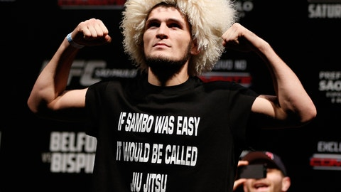 The time Khabib warned America about sanctioning Russia