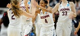 UConn advances with record rout, beats Miss State 98-38